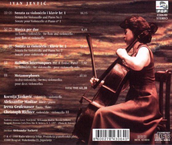 Ivan Jevtic Music per Violoncello - Ksenija Janković