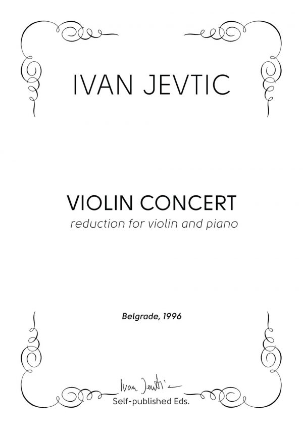 VIOLIN CONCERT PIANO REDUCTION