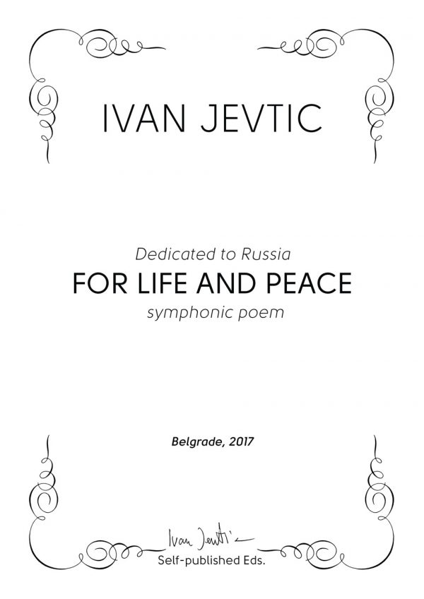 FOR LIFE AND PEACE